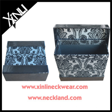 Paisley Print Silk Tie Packaging Gift Boxes Necktie Packing Box