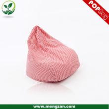 Sofá de dormitorio sofá silla de patrón de bolsa para las niñas, almohadilla de asiento de bolsa rosa de frijol