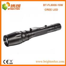 Factory Outlet 5 Mode Heavy Duty 2 * 18650 Lithium battery Активный 10watt высокой мощности Zoom Focus Cree Перезаряжаемый светодиодный фонарик