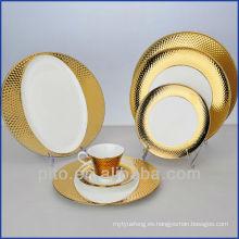 Fábrica de porcelana de P & T, platos plateados oro de los platos, platos de la alta calidad