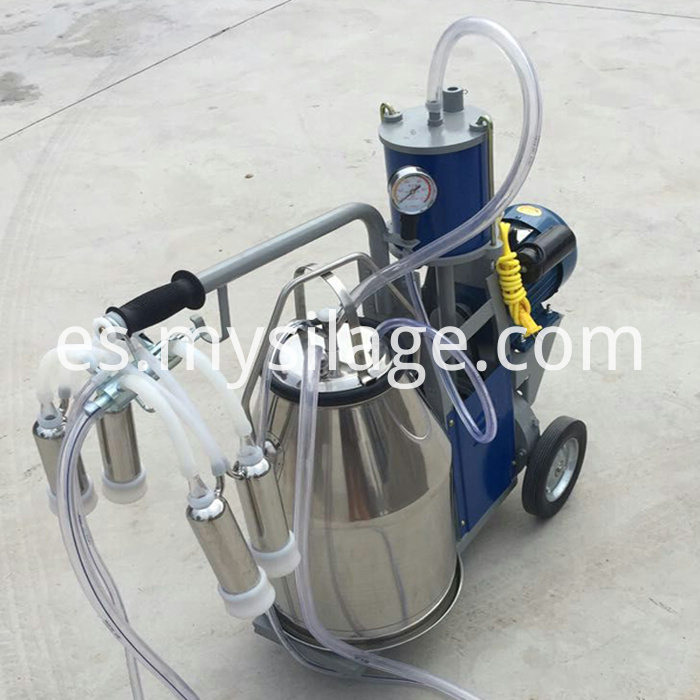 portable piston milking machine