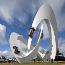 decoração do jardim estátua de metal Artesanato escultura moderna ao ar livre