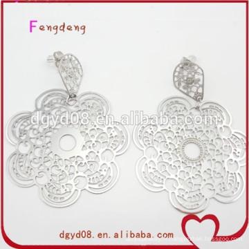 Boucle d'oreille en acier inoxydable, fabricant de vente en gros de boucle d'oreille de mode