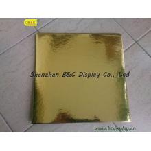 Прямоугольник цветок обрезная с обычной Золотой фольги бумаги торт барабаны с SGS (B и C-K055)