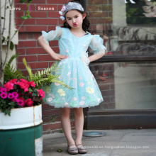 XXLF215 flor de manga larga pattern1-6 años de edad, pequeño vestido puffy flowergirl de la reina
