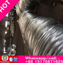 Alambre de acero galvanizado de alto carbono enderezado