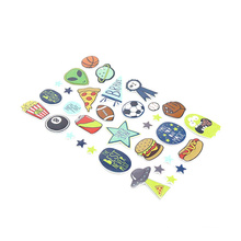 Cheap Glassy Lamination PVC Stickers Promotion Gift  Kids Cartoon Static Stickers