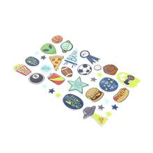 Barato Glassy Laminação PVC Adesivos Promoção Presente Crianças Dos Desenhos Animados de Etiquetas Estáticas