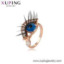 15325 Xuping boa qualidade novo design da forma do olho de jóias China atacado rosa anel de ouro jóias mulheres