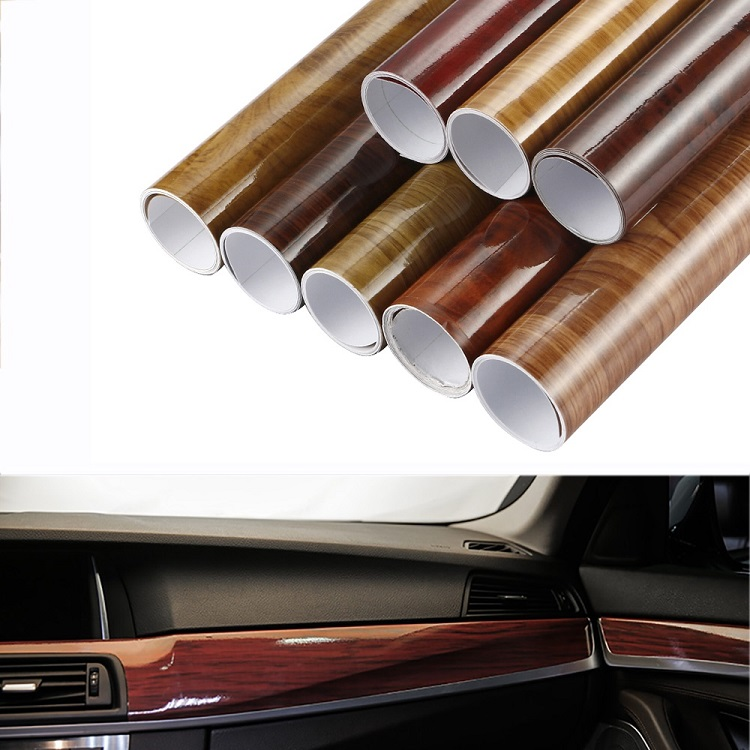 30x100cm-Glossy-PVC-Wood-Grain-Car-Wrap-Film-Decal-Wood-Grain-Textured-Automobiles-Internal-Decoration-Sticker