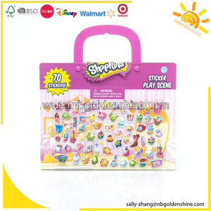 Shopkins Take-Along Aufkleber Play Scene
