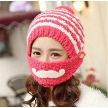 Mode Mädchen Mund Coverd Warm Winter gestrickte Hüte