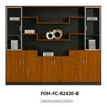 Cabinet de fichiers grand bureau ouvert en bois antique de grande qualité (FOH-FC-R2420-B)