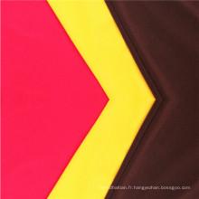 Tissu de chemise teint uni extensible de haute qualité