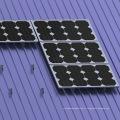 Rail court de toit de tôle trapézoïdale pour le support solaire de toit