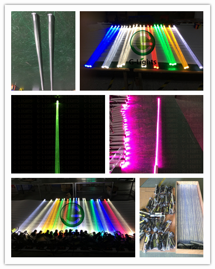 fiber optic light production