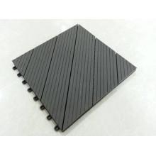 Блокируя напольные плитки палубы Парк веранды используют твердые Тикового дерева плитки с пластиковым основанием