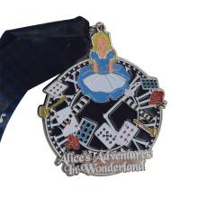 Custom Sports Medal Die Cast Colored Medals cheap metal Alice in Wonderland kids cartoon medal