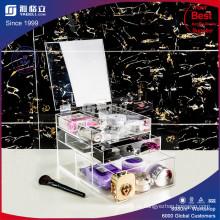 Acryl Kosmetik Organizer mit 3 Schubladen, abnehmbare Trennwände