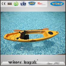 One Paddler Max Single Deluxe Assento Bottom Kayak Transparente