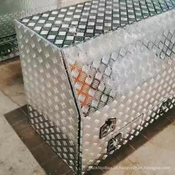 Caixa de ferramentas de alumínio do caminhão da placa da verificação com gavetas Caixa de ferramentas de alumínio do caminhão da placa da verificação com gavetas