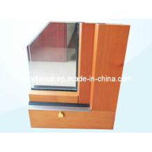 Perfil de aluminio / aluminio para ventanas y muro cortina (RAL-593)