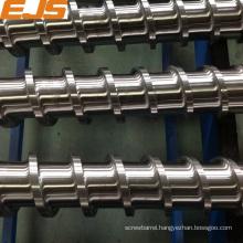 Bimetallic screws for pvc extrusion machine