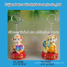 Monkey series christmas home ornament name card clamp