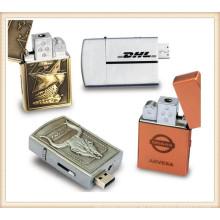 Plata de oro de encendedor USB Flash Drive para el hombre (EM030)