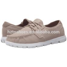 Sapatos de lona por atacado baratos 2016 Senhoras Moda Lace-up Casual Flat Shoe