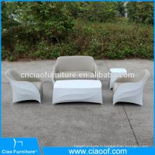 Ensemble extérieur de sofa en cuir et de mélange d'unité centrale imperméable d'unité centrale