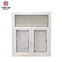 Upvc / verre double en plastique pour fenêtre à battant à persiennes