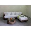 Модный Стильный Дизайн Водяной Гиацинт Диван Набор Для Крытый Гостиной Натуральная Плетеная Мебель