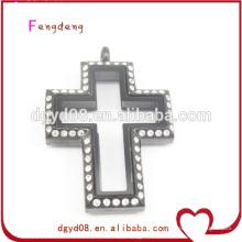 Stainless steel cross locket pendant wholesale