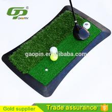 Fairway / tapete de práctica de golf de respaldo de goma artificial de césped verde