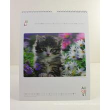 2015 más nuevo diseño de calendario de pared A3 con los gatos