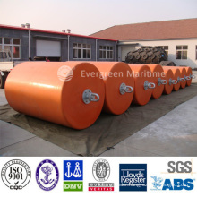 D1m x L2m Cylindrical type Protection equipment dock EVA foam filled fenders marine mooring buoys