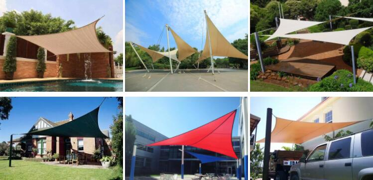 shade sail usage