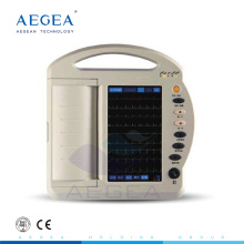 AG-BZ009 china barato 12 sistema de grabación de canal de plomo con pantalla táctil de la batería digital portátil ecg precio de la máquina