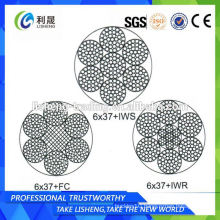 6x37+FC 6x37+IWS 6x37+IWR Non Rotating Galvanized Wire Rope