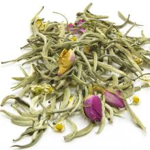 Nuevo té blanco Blend Tea Silver Needle, Rose y té de manzanilla