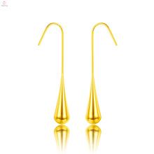 Einfache Edelstahl Wassertropfen Teardrop Ohrringe