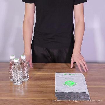 Sac en plastique biodégradable auto-scellant pour vêtements