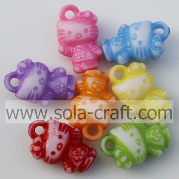 Wholesale Lovely Washing Kitty Acrylic Beads for Key Chains for Children