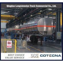 3 Axles 40m3 Aluminum Truck Semi Tanker Trailer for Sale