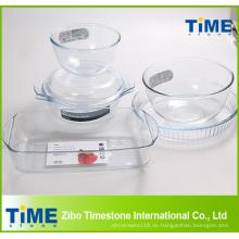 Hoher Borosilikatglas Material Backartikel