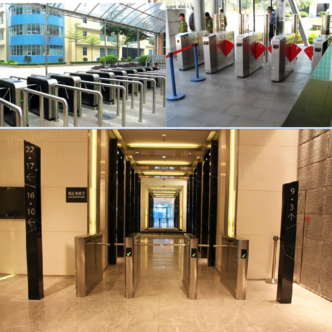 entrance controlled access turnstiles