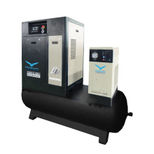11KW 1.6m3/min VSD Screw Air Compressor with air cooling dryer