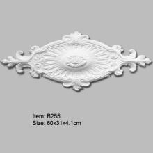 Овальный полиуретановый декоративный потолочный медальон