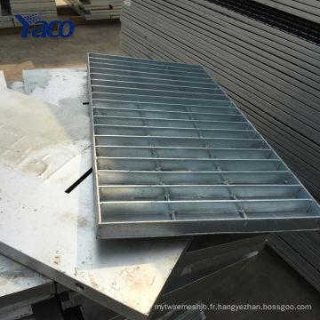 Hengshui usine 1.2 * 3 m 1.2 * 2.5 m Q235 immersion à chaud galvanisé structure en acier caillebotis